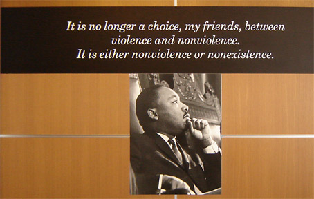 """It is no longer a choice, my friends, between violence or non-violence. It is either nonviolence or nonexistence."""